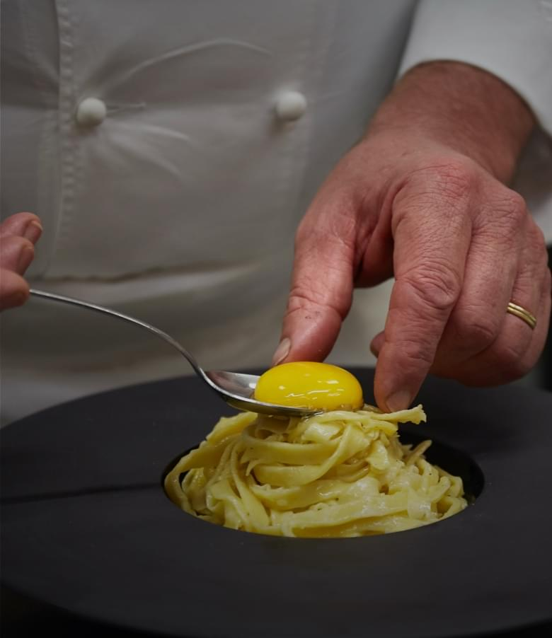 Pasta Serigrafata al parmigiano rape e tartufo