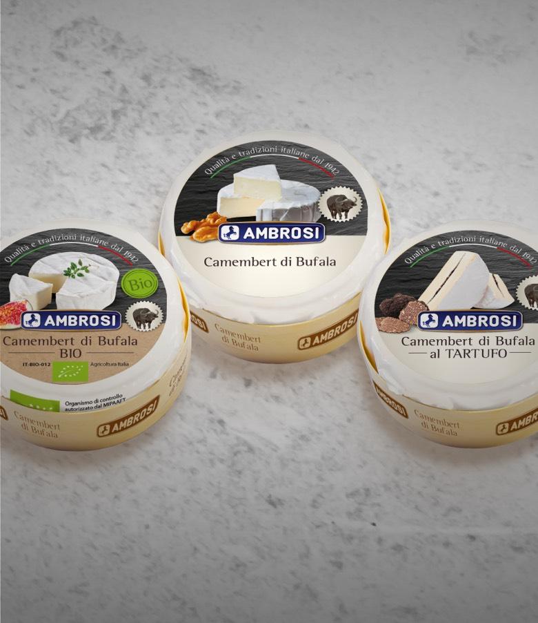Scopri i nuovi Camembert di bufala Ambrosi